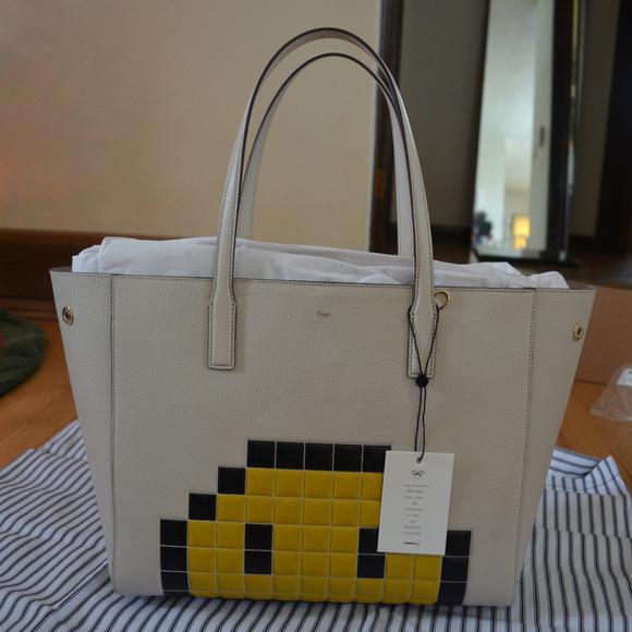 a6d924b00c71 NWT Anya Hindmarch Ebury Pixel Smiley Shopper Bag